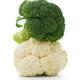Broccoli and cauliflower isolated on white background - PhotoDune Item for Sale