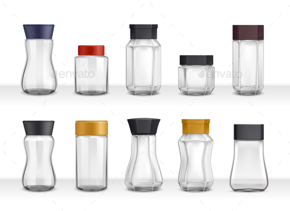 Instant Coffee Realistic Jars - Man-made Objects Objects