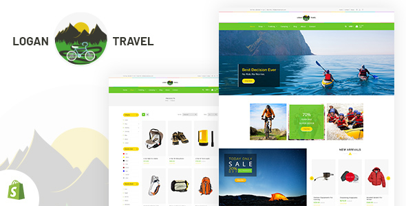 Logan - Trekking & Camping Store Shopify Theme - Entertainment Shopify