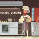 Professional Cooking Restaurant Illustration
