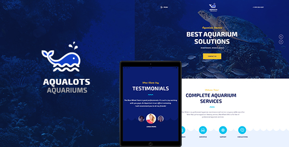 Image of Aqualots | Aquarium Services WordPress Theme