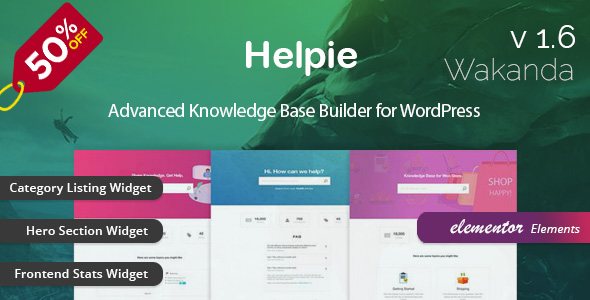 Helpie - WordPress Knowledge Base | Wiki | Helpdesk Plugin nulled free download
