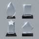 Crystal Glass Blank Trophy Awards Isolated Vector
