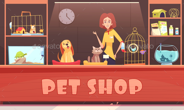 Pet Shop Illustration - Animals Characters