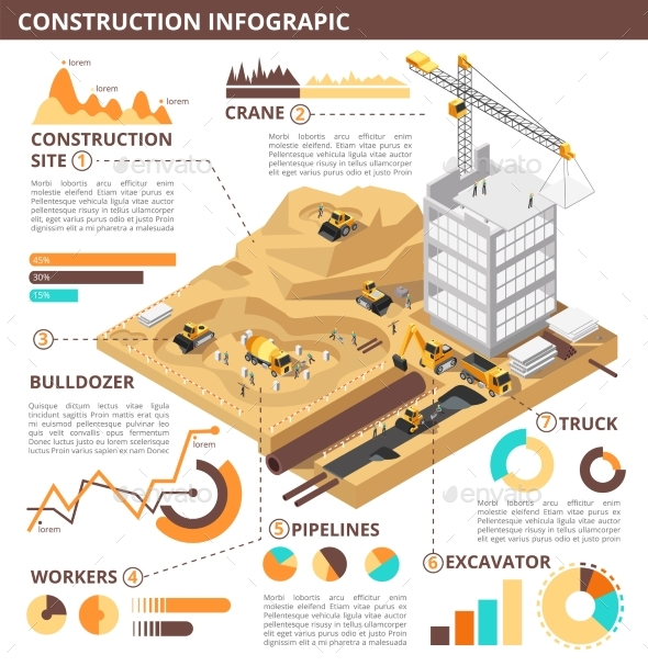 Building Construction Isometric Vector - Buildings Objects