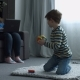 Son Showing Mom Toy From Magnetic Designer Pieces - VideoHive Item for Sale