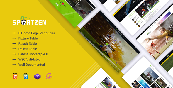 Image of Sportzen - Sports club & magazine HTML template