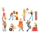 Flat Vector Set with People - GraphicRiver Item for Sale