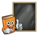 Cartoon Book Giving Thumbs Up and Blackboard - GraphicRiver Item for Sale
