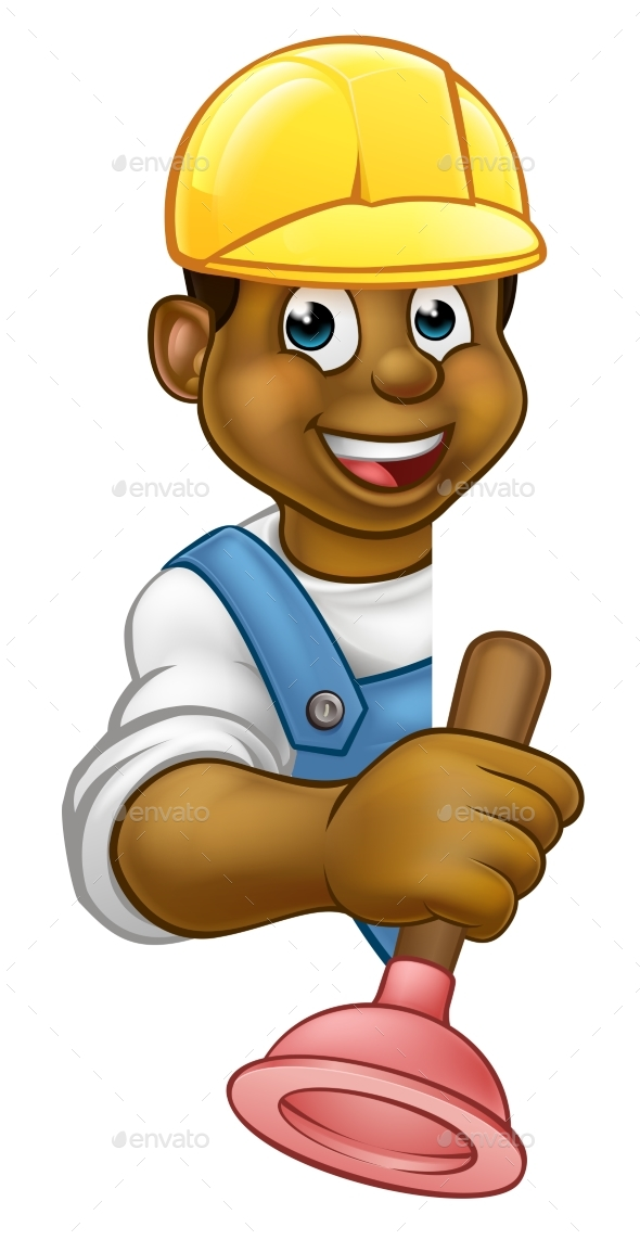 Plumber Cartoon Character - People Characters