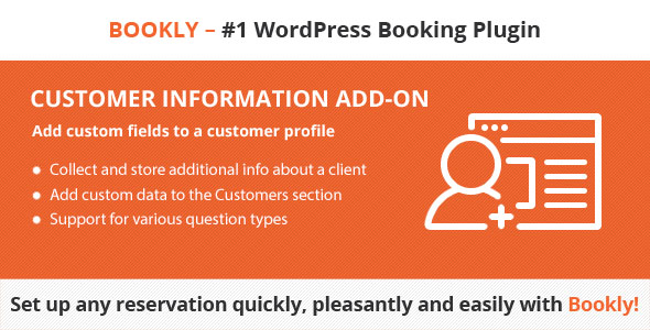 Bookly Customer Information (Add-on) - CodeCanyon Item for Sale
