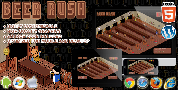 Beer Rush - HTML5 Arcade Game - CodeCanyon Item for Sale