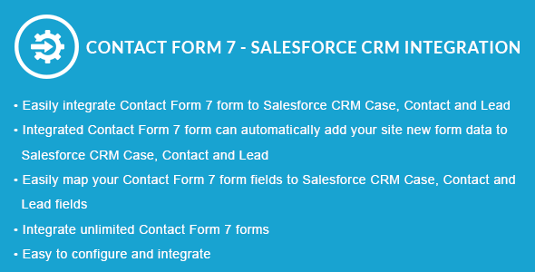 Contact Form 7 - Salesforce CRM Integration - CodeCanyon Item for Sale