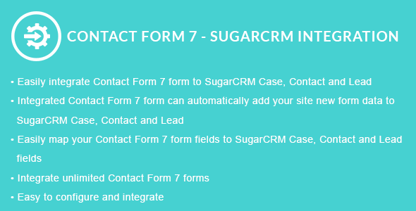 Contact Form 7 - SugarCRM Integration - CodeCanyon Item for Sale