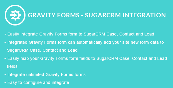 Gravity Forms - SugarCRM Integration - CodeCanyon Item for Sale