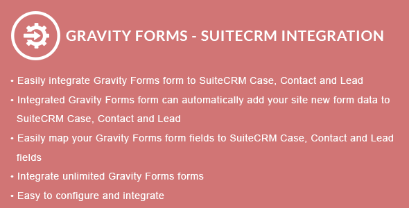 Gravity Forms - SuiteCRM Integration - CodeCanyon Item for Sale