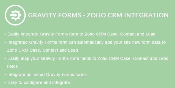 Gravity Forms - ZOHO CRM Integration - CodeCanyon Item for Sale