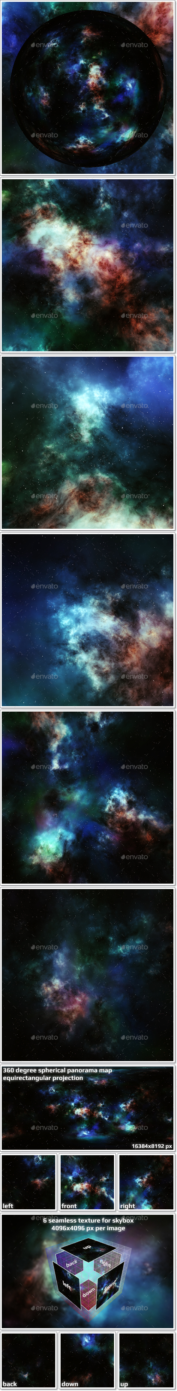 Nebula Space Environment HDRI Map 012 - 3DOcean Item for Sale