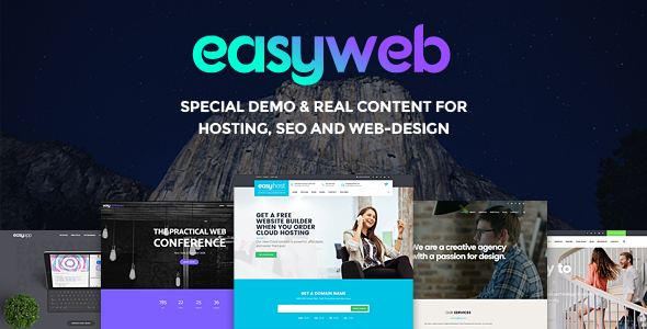 Image of EasyWeb - WP Theme For Hosting, SEO and Web-design Agencies