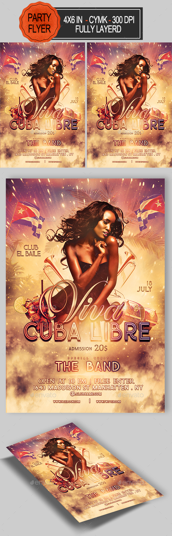 Viva Cuba Libre Flyer - Clubs & Parties Events