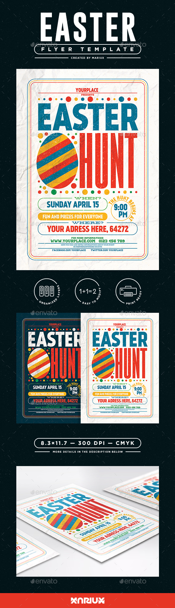 Easter Egg Hunt Flyer/Poster - Events Flyers