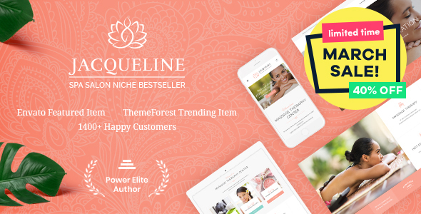 Jacqueline | Spa & Massage Salon Theme - Health & Beauty Retail
