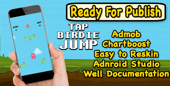 Tap Birdie Jump - Endless Game Play - Android Studio Project - Ready For Publish - CodeCanyon Item for Sale