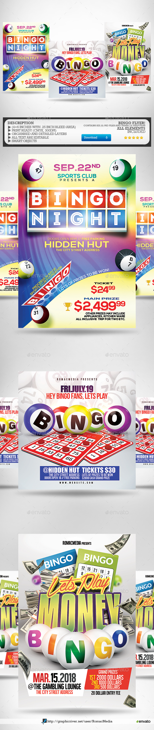 Bingo Flyer Bundle - Events Flyers