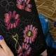 The Girl Is Embroidering Flowers  - VideoHive Item for Sale
