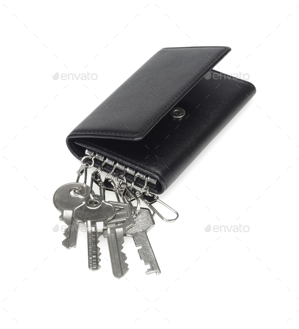 Leather Purse Key Chain - Stock Photo - Images