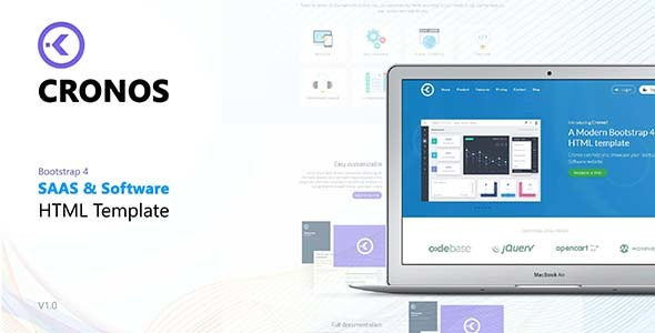 Image of Cronos - Software/Startup HTML Template