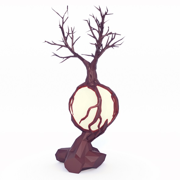 Fantasy Tree Low Poly - 3DOcean Item for Sale