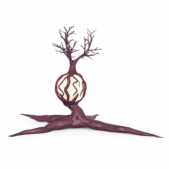 Fantasy Tree Low Poly 2 - 3DOcean Item for Sale