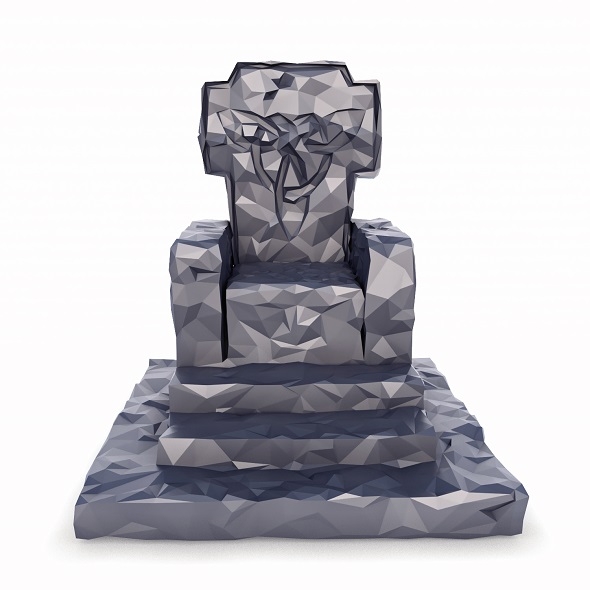 Throne Low Poly