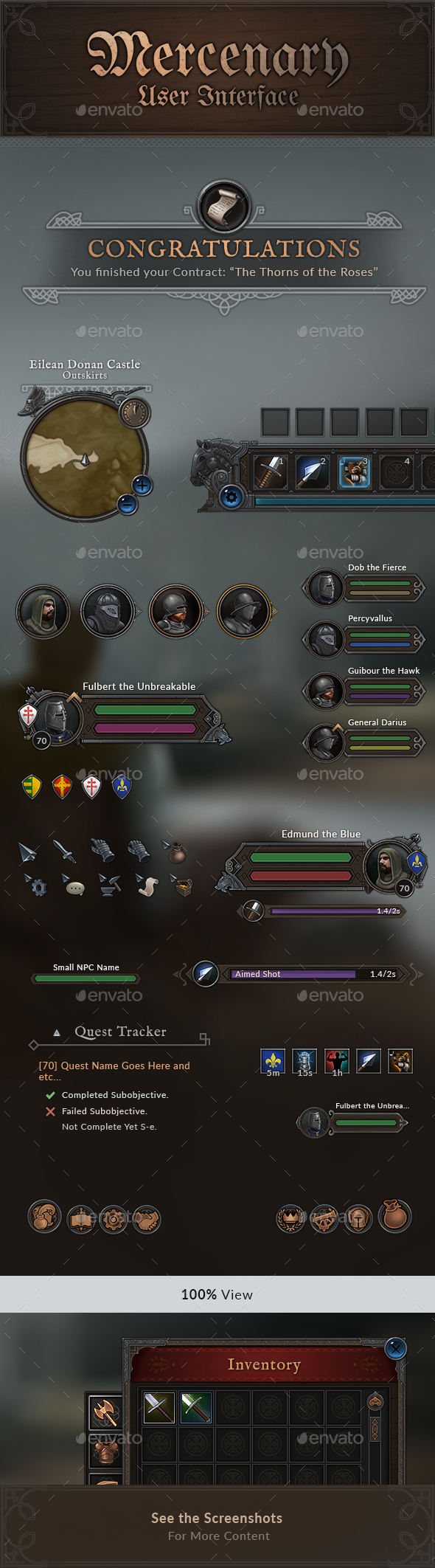 Mercenary - RPG User Interface - User Interfaces Game Assets
