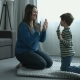 Happy Boy and Mother Playing Patty Cake at Home - VideoHive Item for Sale