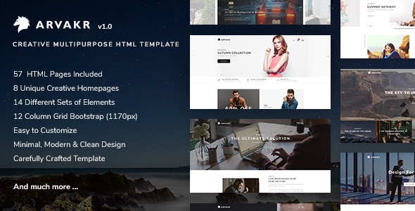 Arvakr - Creative Multi-Purpose Bootstrap Template - Portfolio Creative