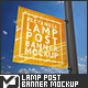 Square Lamp Post Banner Mock-Up - GraphicRiver Item for Sale