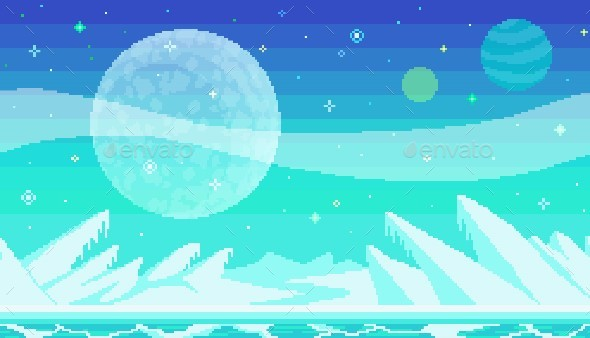 Pixel Art Game Location - Backgrounds Game Assets