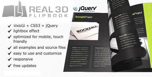 Real3D FlipBook jQuery Plugin - CodeCanyon Item for Sale