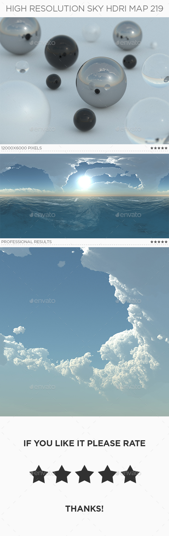 High Resolution Sky HDRi Map 219 - 3DOcean Item for Sale