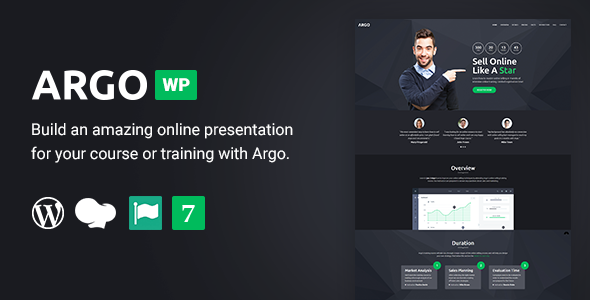 Image of Argo - Training Course  WordPress Landing Page Theme