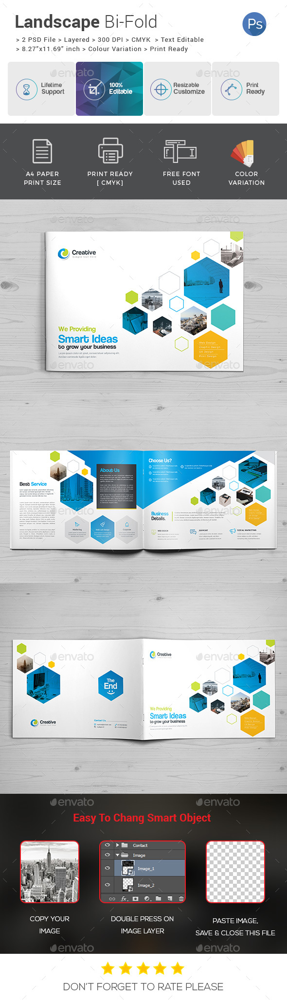 Landscape Bi-Fold Template - Corporate Brochures