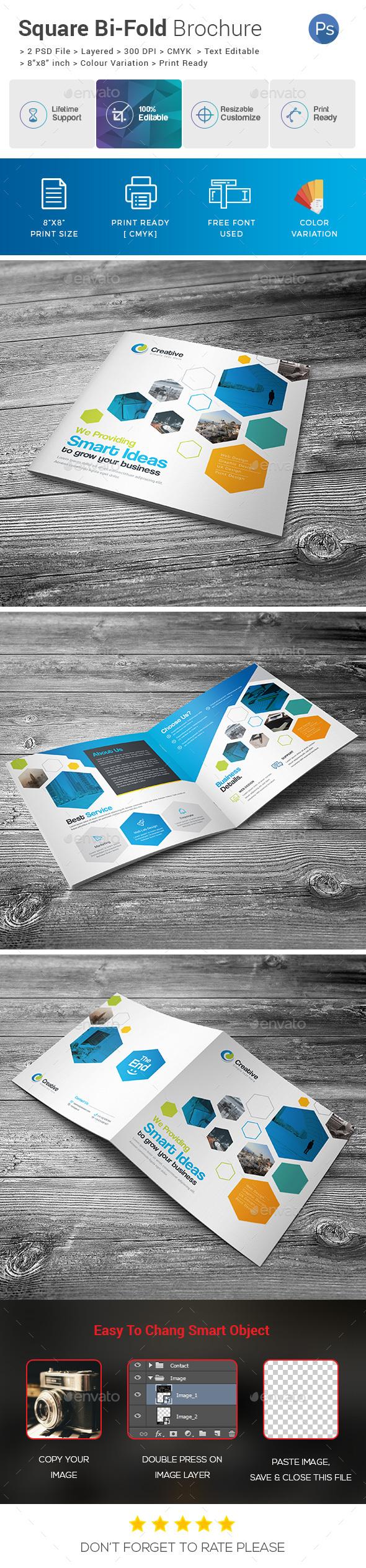Square Bi-Fold Template - Corporate Brochures