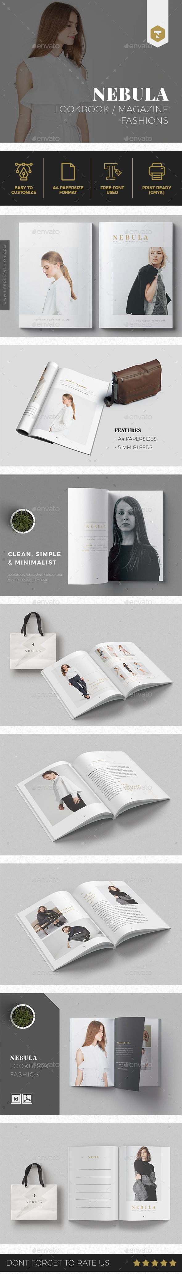 NEBULA | Lookbook/Magazine Fashion - Brochures Print Templates