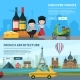 Banners Set of French Landmarks - GraphicRiver Item for Sale