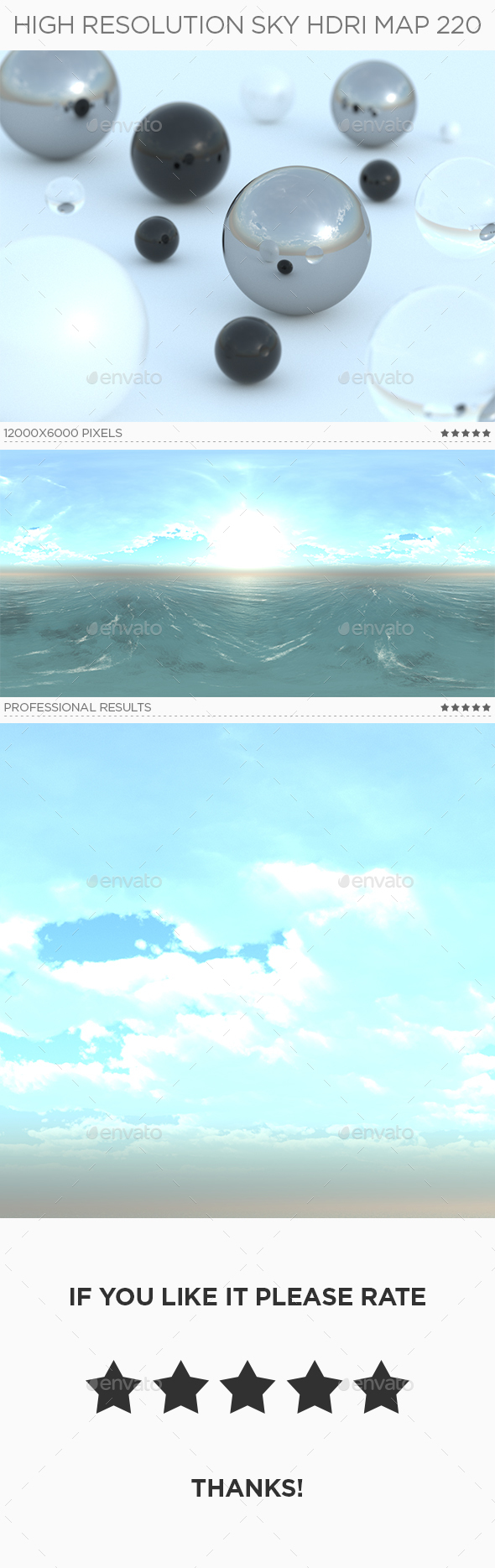 High Resolution Sky HDRi Map 220 - 3DOcean Item for Sale