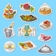 Vector Hand Drawn Restaurant or Room Service - GraphicRiver Item for Sale