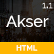 Akser - One Page Parallax - ThemeForest Item for Sale