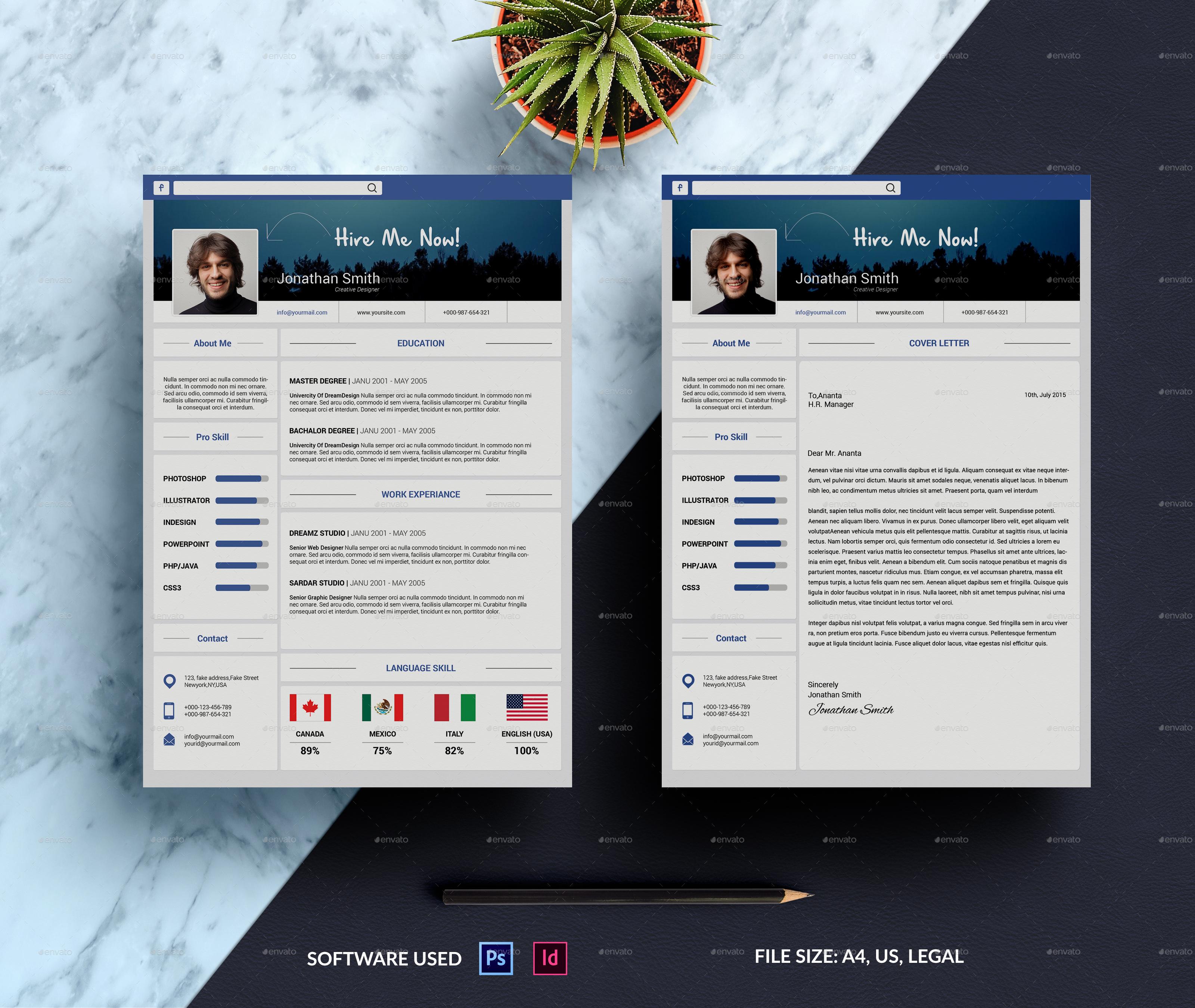 Resume & Cover Letter Big Bundle by smmr   GraphicRiver